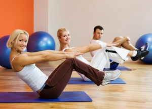 "Pilates oefening ""the hundred"""